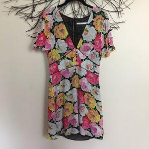 ZARA medium floral short sleeve mini dress.